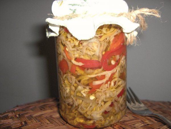 Conserva di zucchine e funghi bimby