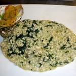 Risotto con pancetta e spinaci